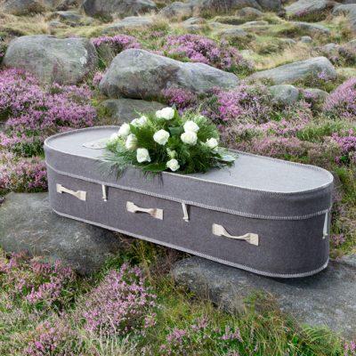Grey Woollen Coffin