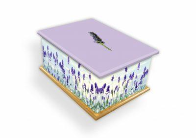 Lavender Ashes Casket