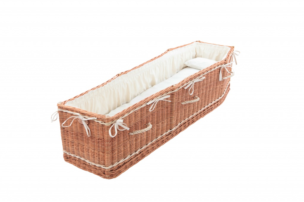 Premium Coffin interior set, complete with frill, mattress and pillow filled with natural hay
