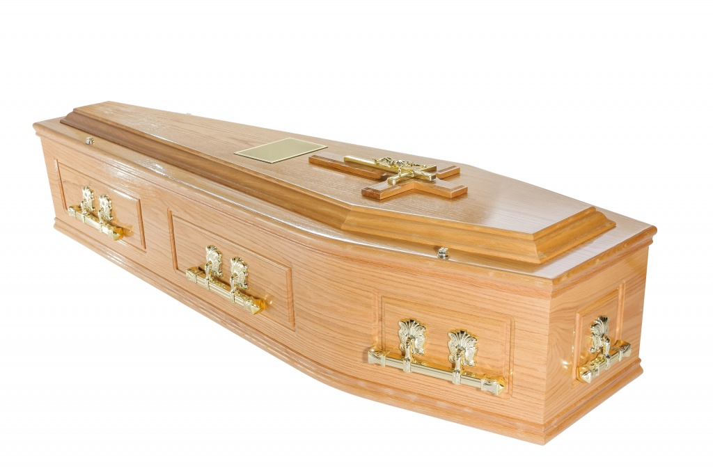 Victoria Solid Oak Coffin with 'B' Handles