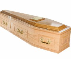 Victoria Solid Oak Coffin with 'A' Handles