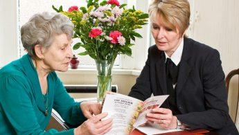 Ladies Discussing Funeral Plans