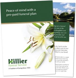 Funeral plan brochure